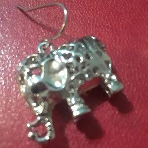 Urban Outfitters Jewelry - Silvertone boho elephant earings